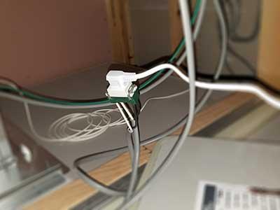 住宅情報館浴室天井点検口内分配器用電源
