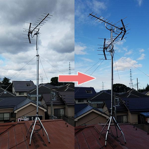 二つの八木式アンテナ