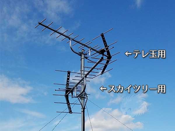 八木式アンテナ2基同時設置事例