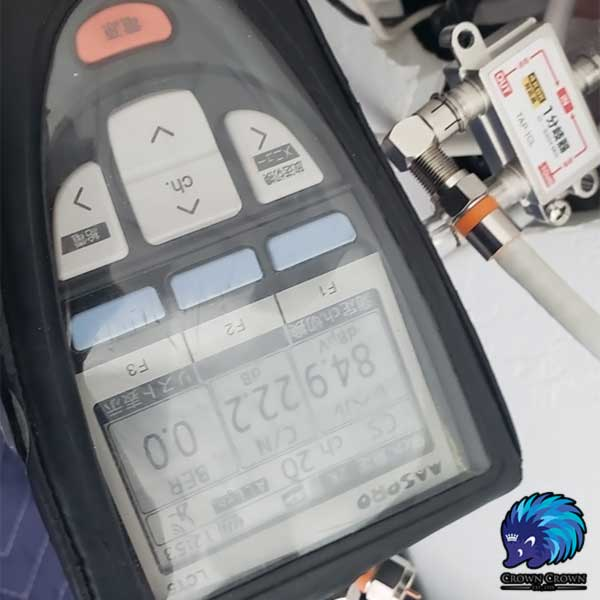 分岐器で電波測定(幹線側)