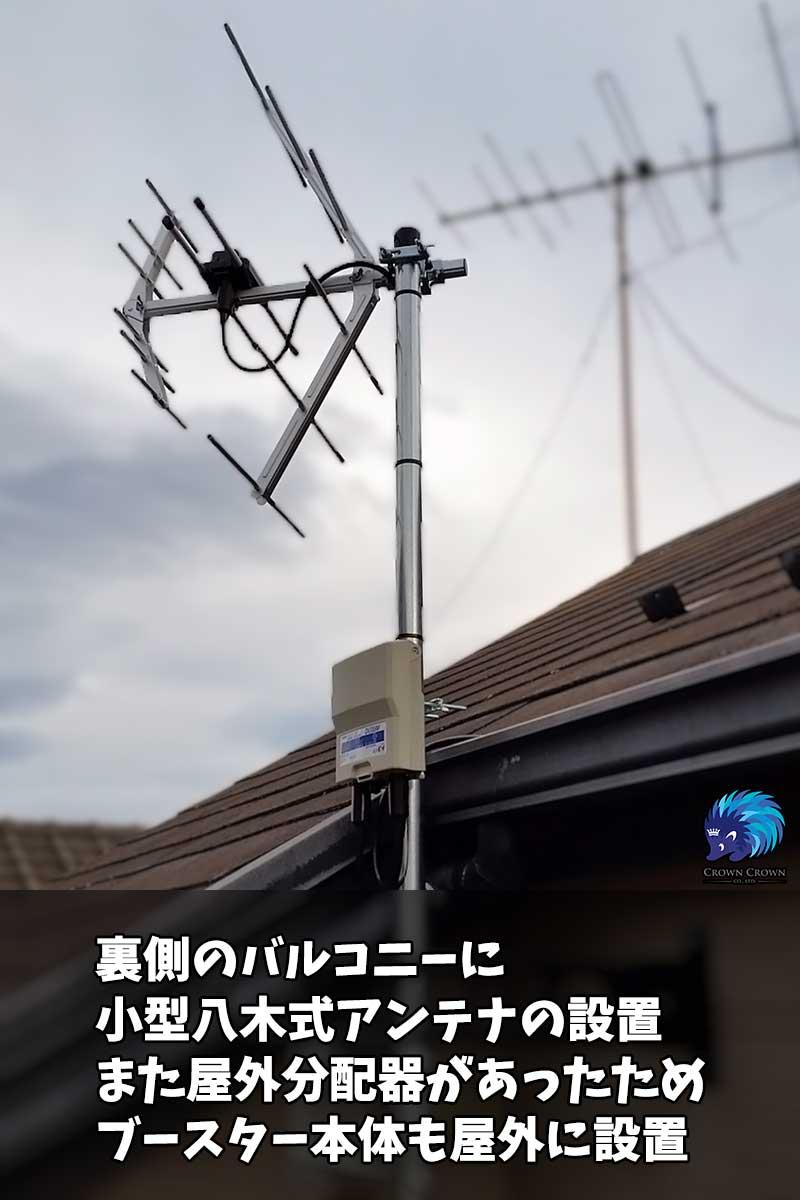 強弓アンテナによるコンパクト設置