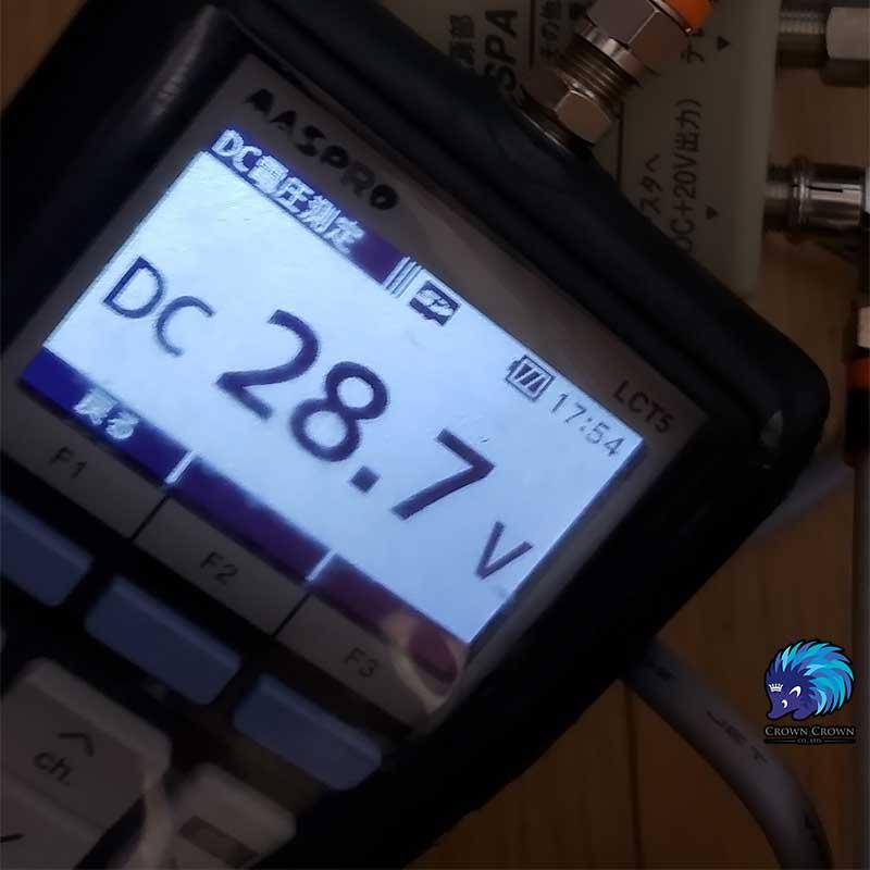 ブースター電源の電圧異常