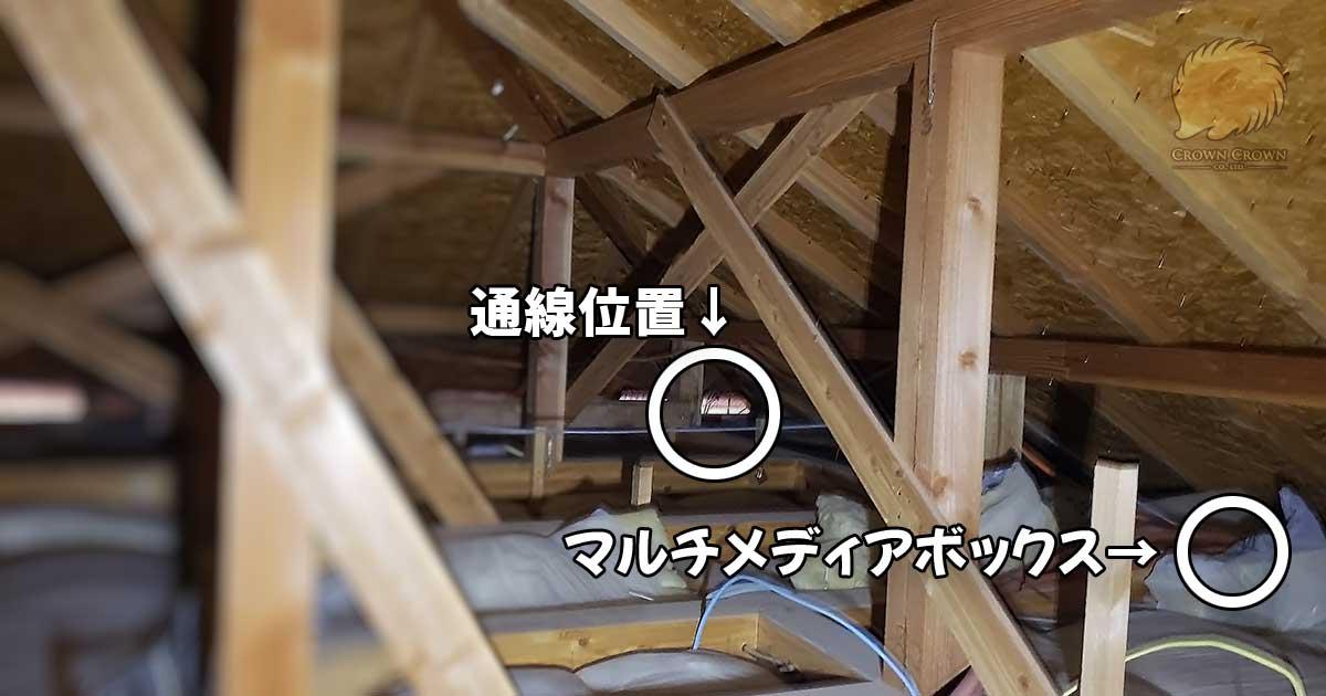 屋根裏の通線